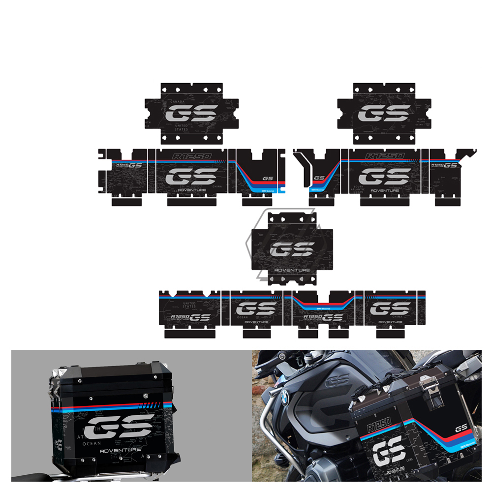 Motorcycle Reflective Decal Case for BMW R1200GS R1250GS Adventure 2004-2020 Side Case Sticker