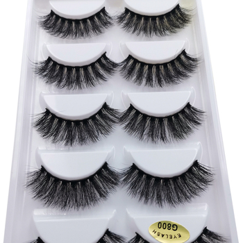 500boxes Mix natrual mink eyelashes false lashes bulk fluffy dramatic eye lashes fake lashes kits 500 packs eyelashes maquiagem