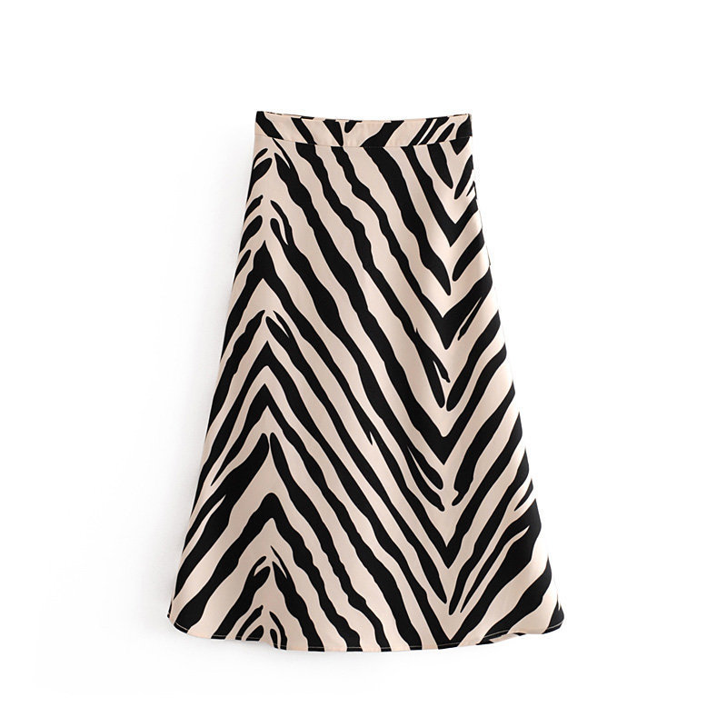 2020 European Style Zaraing Summer And For Ladies Wholesale Zebra Put On A Large Half-length Skirt