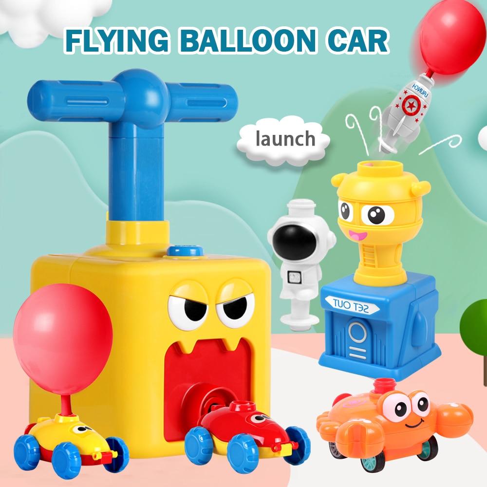 Инерционный воздушный шар, игрушечный автомобиль, аэродинамическая образовательная научная экспериментная головоломка забавные шары, Обу...