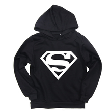 Baby Boys Girls Hoodies Cartoon Superman Print Sweatshirt for Toddler Kids Cotton Spring Children Casual Sport Colth