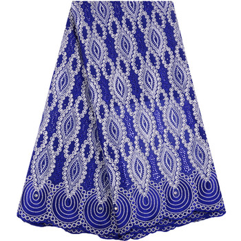 African Dry Lace Fabric Swiss Voile Lace Swiss Cotton Stones Lace High Quality 2019 Royal Blue Voile Lace Fabrics For Wedding