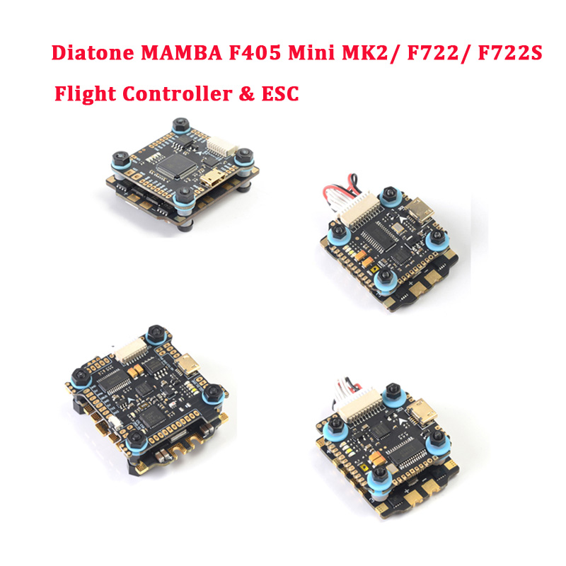 Diatone <font><b>MAMBA</b></font> <font><b>F405</b></font> <font><b>Mini</b></font> MK2/ F722/ F722S Betaflight Flight Controller & F40 40A / F25 50A Brushless ESC For RC Drone Parts image