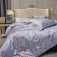 Svetanya Silkly Egyptian Cotton Bedding Linens Printed Sheet Pillowcase Duvet Cover