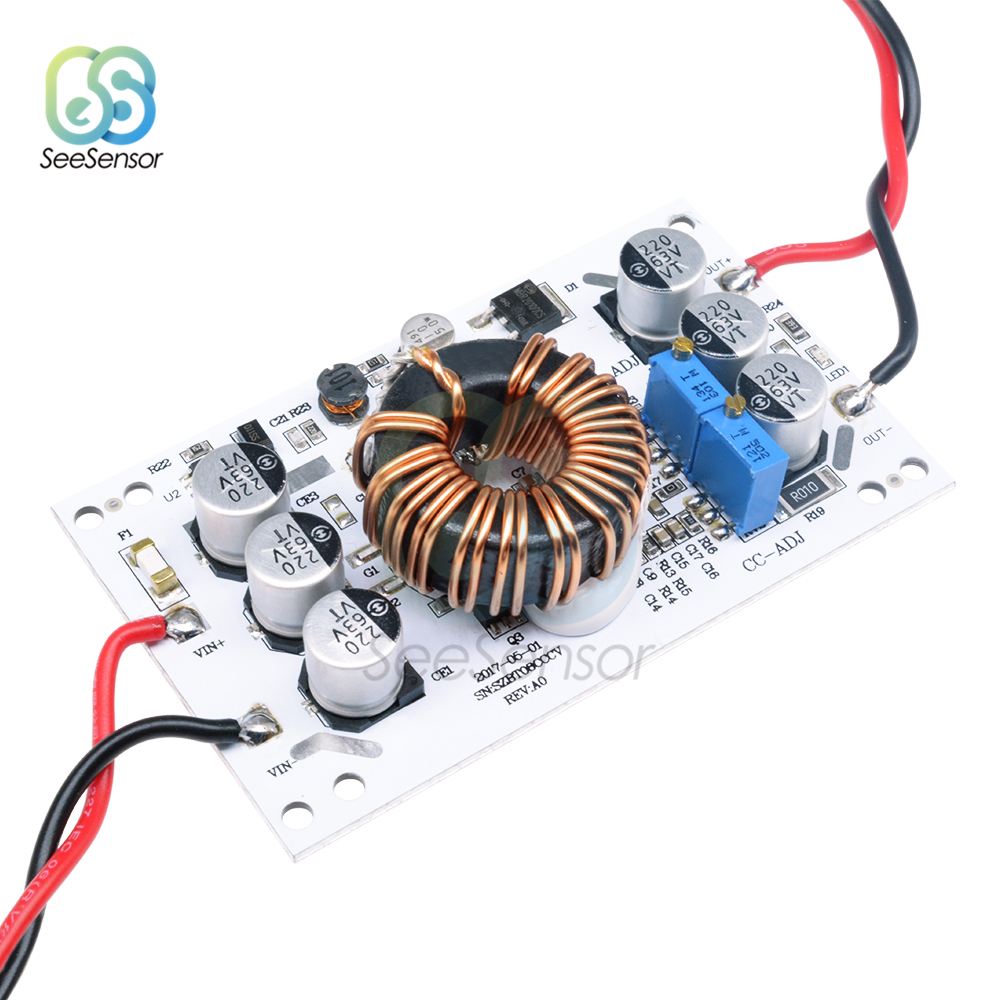 <font><b>DC</b></font> 10V-60V <font><b>600W</b></font> <font><b>DC</b></font>-<font><b>DC</b></font> Non-isolated Boost Converter Adjustable <font><b>10A</b></font> <font><b>Step</b></font> <font><b>Up</b></font> Constant Current Power Supply Module For Arduino image