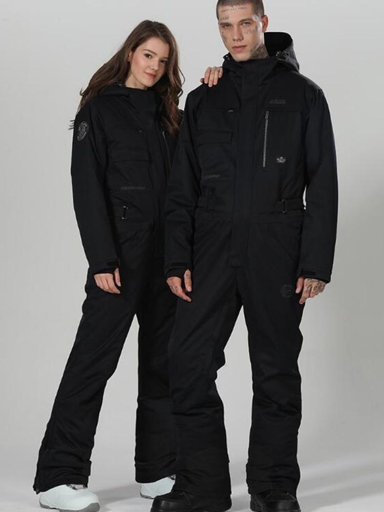 Ski Suit Women Winter Suit Women Snowboard Suit Men Ski Jumpsuit One-piece Ski Jacket Women Snowboarding Snow Suit Female Warm
