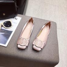 Женские туфли с круглым носком на мягкой подошве