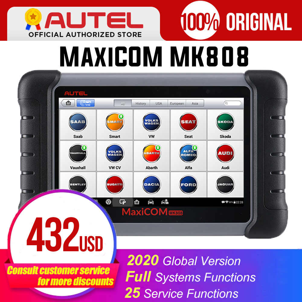 Autel Maxicom MK808 MX808 Obd Obdii Diagnostic Tool OBD2 Scanner Volledige Systemen Diagnose Scanner Autel Tablet Scanner Automotive