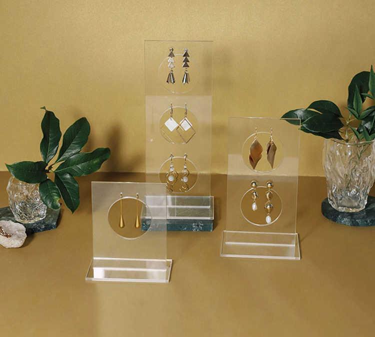 Pionowy akrylowy kolczyk stojak stojak do kolczyków Case kolczyk Organizer uchwyt na kolczyk kolczyk półka na biżuterię