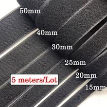 5Meters/pairs 16/20/25/38/50/100mm adhesive Hook and Loop fastener Tape Sewing-on the hooks velcros adhesive Magic tape DIY 4.8