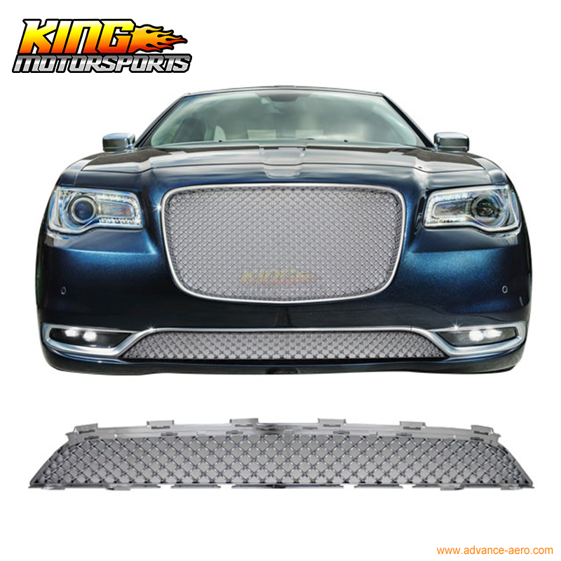 Fit For 15-17 Chrysler 300 300C Bentley Style Front Lower Grill Grille - Chrome USA Domestic Free Shipping