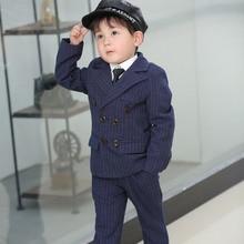 2020 Blue Gray Boy Formal Tuxedos Little Boy Groomsmen Kids Children For Wedding Party Prom Suit Wear Boys' Attire