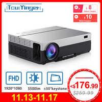 Touyinger T26K LED natif 1080p projecteur full HD projecteur vidéo 5500 Lumen T26L Home cinéma HDMI (Android 9.0 wifi AC3 en option)
