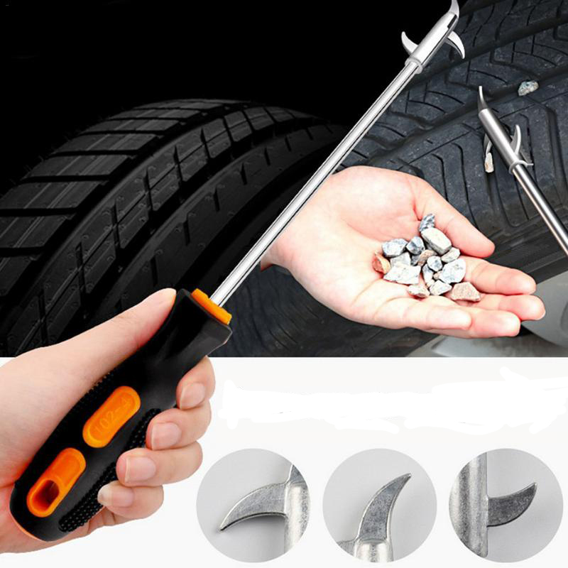 2019 Upgraded Car Tire Stone Cleaner Groove Broken Stone Remover Tire Cleaning Hook Tire Cleaning Screwdriver Tool Car-styling