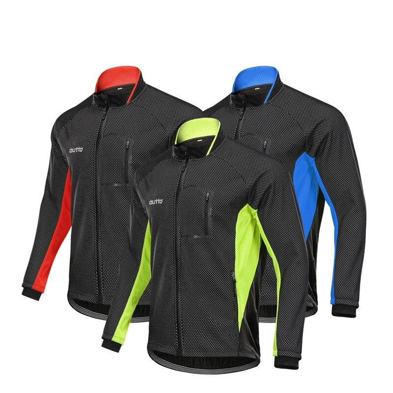 Men Winter Cycling Jacket Bicycle Thermal Fleece Coat Windbreaker Warm Windproof MTB Jersey Bike Clothes Outdoor Sports Clothing
