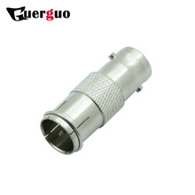 100pcs R connector BNC FEMALE TO F QUICK MALE