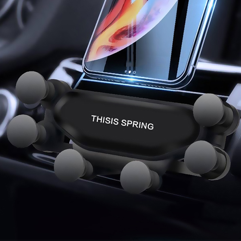 New Hot Universal Gravity Car Holder For Phone In Car Air Vent Clip Mount No Magnetic Mobile Phone Holder GPS Stand For IPhone