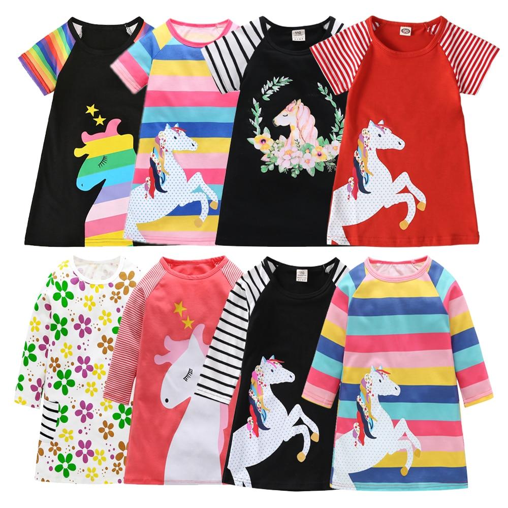 Детское Хлопковое платье-трапеция, на возраст 1-7 лет