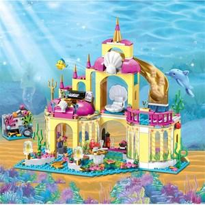 Image 4 - 41063 فتاة الأميرة الأصدقاء سلسلة تحت سطح البحر قصر قوالب بناء كتل مجموعات لعبة فتاة الأصدقاء متوافق مع كتل فتاة اللعب