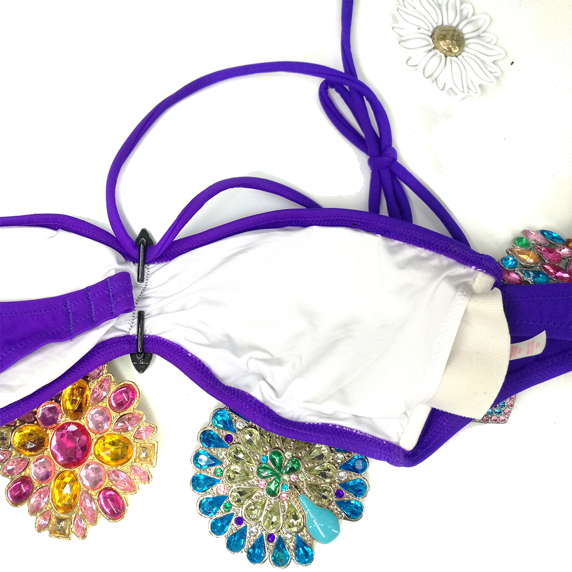 Mixer Bikini TOPS for Women Swimwear Top Original Design For Secret Diamond Purple Bathing suits Sexy swimming biquini UP 2