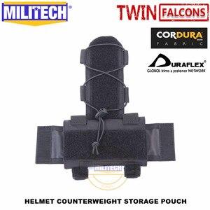 Image 4 - Militech twinfalcons twヘルメットカウンターウェイトバッテリー収納ポーチ収納ポーチ戦術的な軍事nvg重量カウンターポーチバッグ