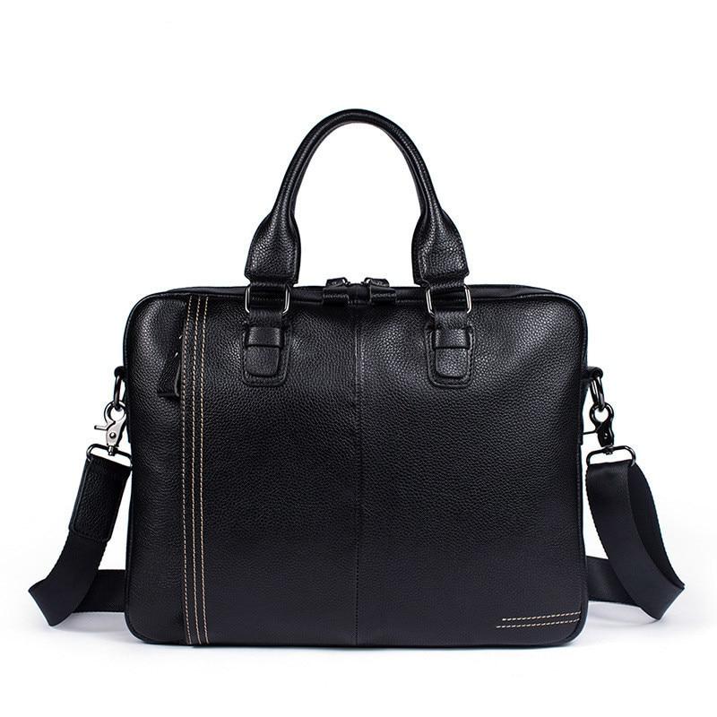 Genuine Leather Package Business Affairs Man Briefcase Handbag Cowhide Single Shoulder Satchel Computer Bag Office Bags For Men