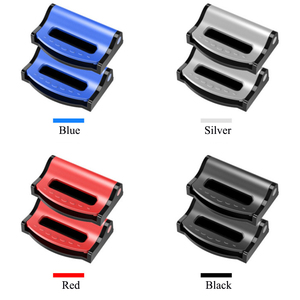 Image 4 - 2pcs Universal Car Seat Belts Clips Safety Adjustable Auto Stopper Buckle Plastic Clip 4 Colors Interior Accessories Car styling