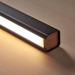 Image 4 - Lampe suspendue en bois minimaliste sur ligne, design nordique, design moderne et simpliste, luminaire dintérieur, luminaire dintérieur, idéal pour un bureau, une salle à manger, un café, un Bar, vendredi LED