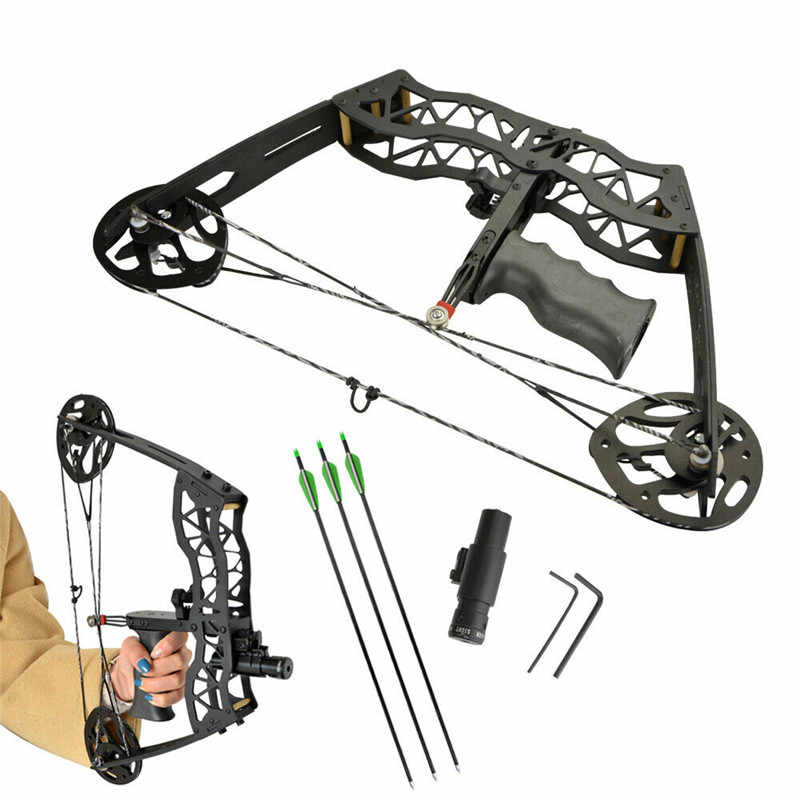 ミニ化合矢印設定 40lbs 狩猟 Bowfishing ためアーチェリー右左手弓狩猟射撃弓釣り機器