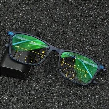 Υψηλής ποιότητας Προοδευτικά Πολυεστιακά Γυαλιά Ανάγνωσης Διεστιακά Γυαλιά Γυναικεία Άνδρες Φωτοχρωμικά Γυαλιά nx