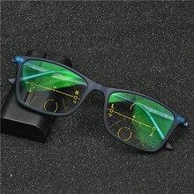 Gafas de lectura multifocales graduales de gama alta para hombre y mujer, gafas de lectura fotocromáticas NX