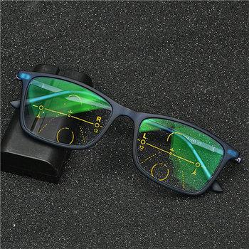 Wysokiej klasy progresywne wieloogniskowe okulary do czytania dwuogniskowe okulary do czytania kobiety mężczyźni okulary do czytania z fotochromem NX tanie i dobre opinie Mincl Unisex WHITE Fotochromowe 00inch Z poliwęglanu Z tworzywa sztucznego