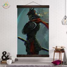 Настенный постер с изображением японского самурайского воина