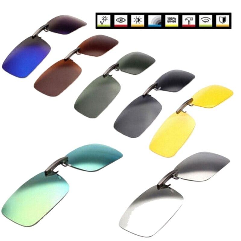 1 шт. поляризованные солнцезащитные очки унисекс с клипсой для вождения солнцезащитные очки дневное видение UV400 линзы для вождения ночного ...