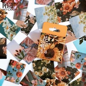 45Pcs/Box Vintage Flower Series Stickers Scrapbooking Daily Planner Kawaii Sticker DIY Notebook Stationery School Supplies