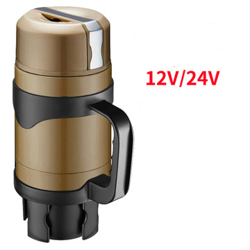 12/24V Truck Car Portable Electric Travel Heating Cup Coffee Tea Boiling Thermal Kettle Stainless Steel Stew Bottle