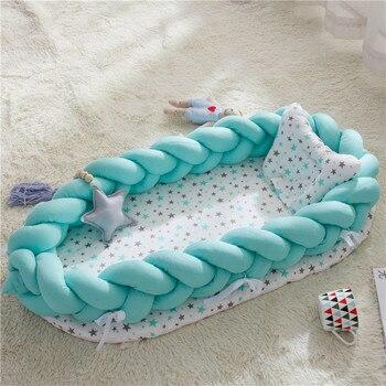 Newborn Bassinet Bumper Bassinet Bed Portable Baby Crib Lounger For Newborn Crib Cradlenfant Toddler Sleep Nest Pillows