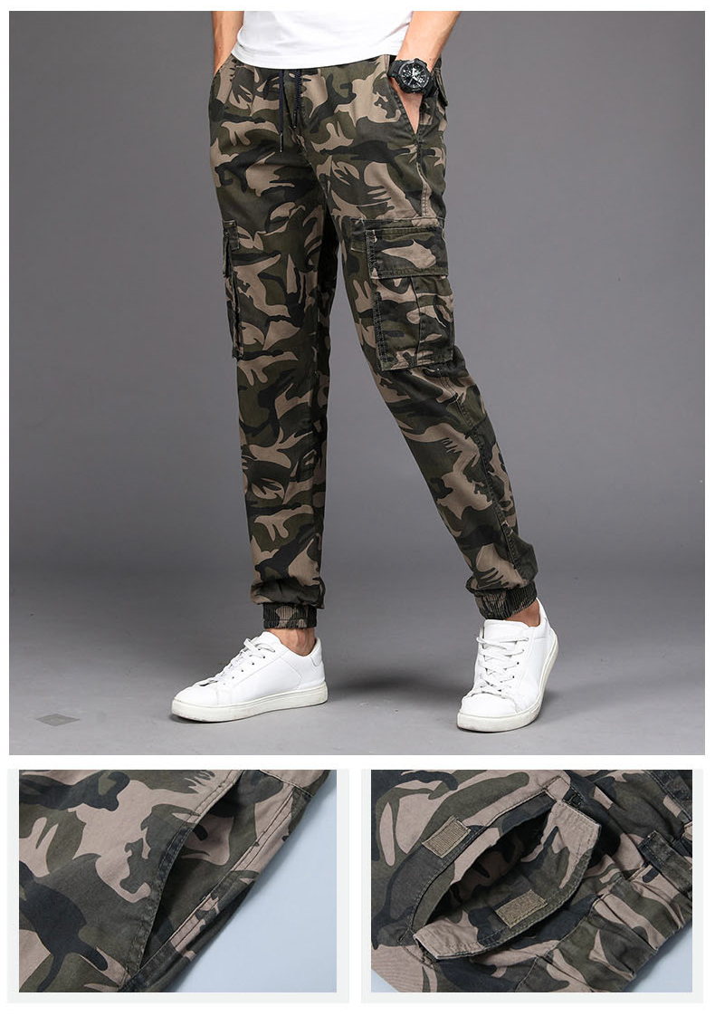KSTUN Camouflage Casual Pants Men Joggers Men's Trousers Drawstring Sweatpants Male Large Size Blue Military Army Cargo Pants Men Boys 11