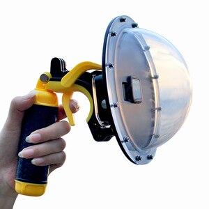 Image 3 - Go Pro Cupola Porta Per GoPro Eroe 7 6 5 Subacquea Impermeabile Custodia Scatola di Trigger Grip Della Cupola di Copertura Sfera accessori