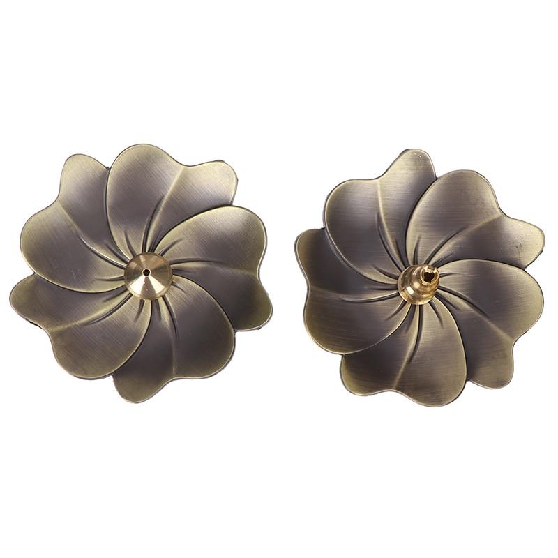 Hot Metal Lotus Backflow Incense Burner Perfume Flower Shape Home Incense Holder Alloy Fragrance Furnace Plate Stand 1PC