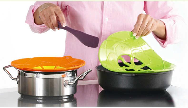 Разлива посуда кастрюля инструмент Аксессуары Кухня для ручка для крышек от кухонной посуды цветок Пособия по кулинарии силиконовые крышки Универсальная крышка для кастрюли