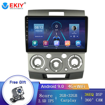 EKIY 8 Core Car Multimedia Player Stereo GPS For Ford Everest/Ranger For Mazda BT50 2006-2010 DSP Built-in Carplay Mirror Link image