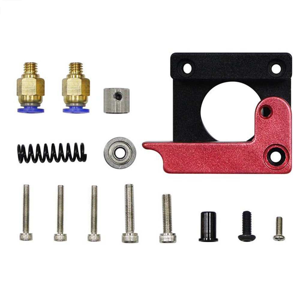 MK8 Remote Extruder Aluminum Alloy Left Right Hand Arm Bracket Part Red Bowden