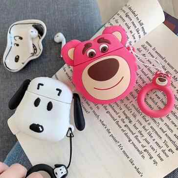Airpods Case airpod case cover Bluetooth Earphone Protective Case Cute Silicone Cover Capa Funny for Air pods case case airpods
