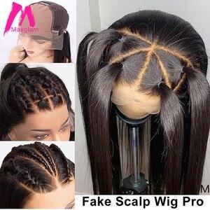 Image 2 - 13x6 парики из натуральных волос на кружеве, короткий парик из искусственной кожи головы, прямой, короткий, длинный, предварительно выщипанный с детскими волосами Remy для черных женщин 130%