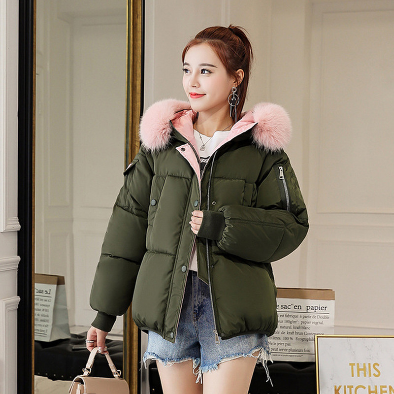 2019 Fashion Coat Women Loose Plus Size Parka Winter New Coat Women Long Sleeve Women Clothes Hoodie Korean Style New Hot Sale in Parkas from Women 39 s Clothing