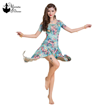 2020 New Belly Dance Practice Costume Sexy Irregular Dancing Dress Fashion Print Dance Performance Short Dresses Bellydance Set