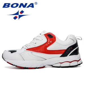 Image 4 - BONA 2019 New Designer Professional Leather Running Shoes Men Spring Autumn Walking Shoes Men Athletic Jogging Sneakers Footwear