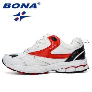 Image 4 - BONA 2019 Yeni Tasarımcı Profesyonel Deri koşu ayakkabıları Erkekler İlkbahar Sonbahar yürüyüş ayakkabısı Erkekler Atletik Koşu Sneakers Ayakkabı