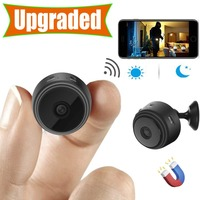 ミニカメラ、ホームセキュリティカメラ無線 lan 、ナイトビジョン 1080 p ワイヤレス監視カメラ、リモートモニター電話アプリ